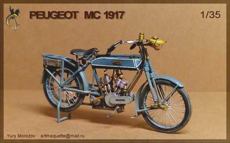 Moto Peugeot MC 1917, 1/35 Meng/scratch P110