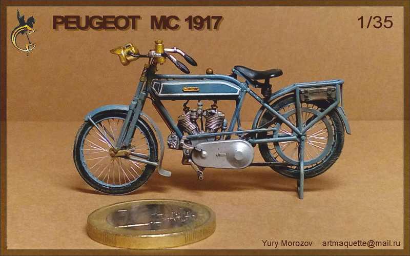 Moto Peugeot MC 1917, 1/35 Meng/scratch P210