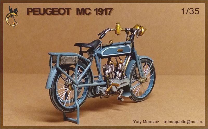 Moto Peugeot MC 1917, 1/35 Meng/scratch P410