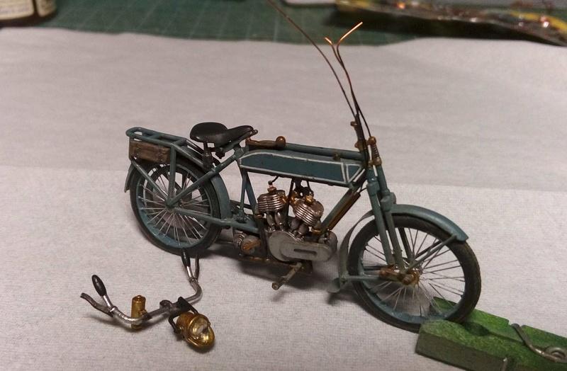 Moto Peugeot MC 1917, 1/35 Meng/scratch P610