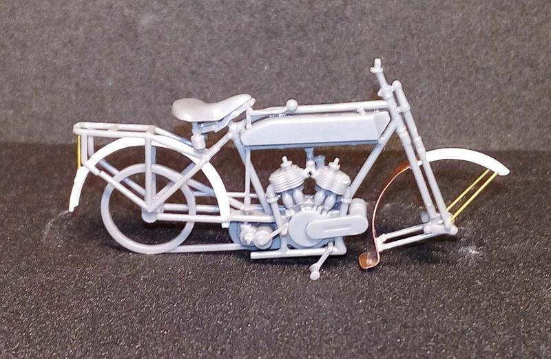 Moto Peugeot MC 1917, 1/35 Meng/scratch P710
