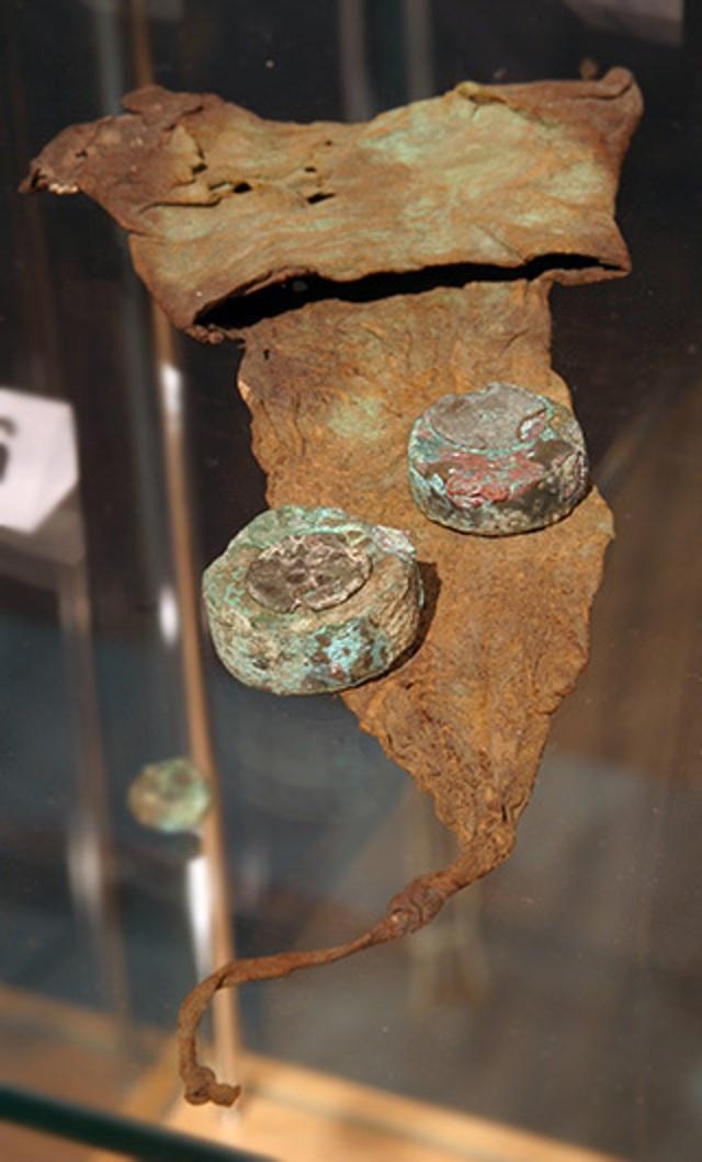 monedero medieval de un museo Monede10