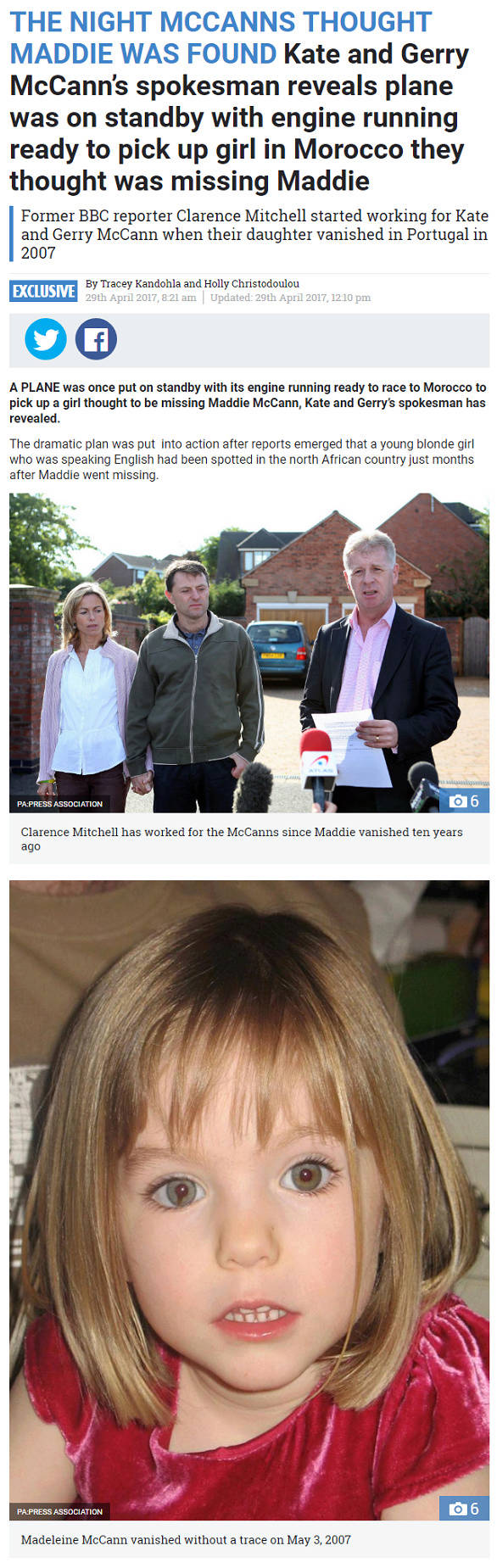 The Sun 29th April 2017 - The Night The McCanns Thought Maddie Was Found Part_110