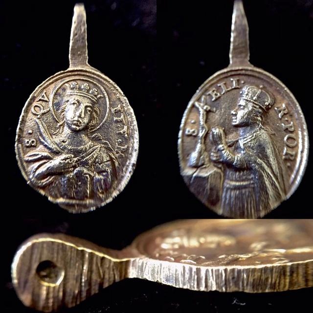 Santa Quiteria - Santa Isabel de Portugal, (R.M. SXVIII-O344) Medall17