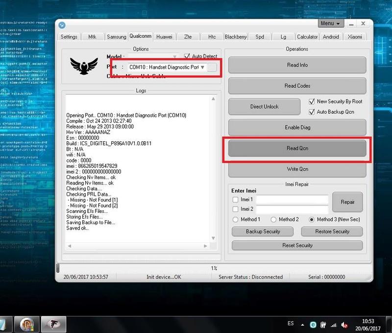 Unlock ZTE V9800 Grand Era LTE Digitel con falcon 2.1 211