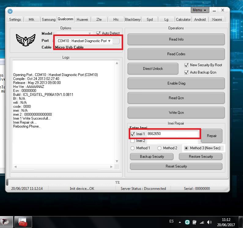 Unlock ZTE V9800 Grand Era LTE Digitel con falcon 2.1 311
