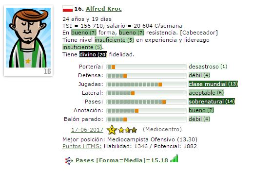 En caso de Ascenso a IV/Otra temporada en V = Que Fichajes Haríais ? (Estoy 2º) 16-kro11