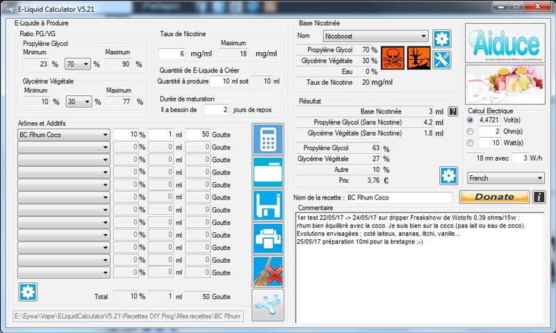 Appli et/ou site de gestion de test et recettes e-liquide ? Logici10