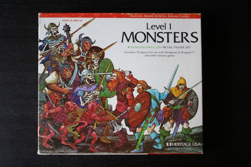 Heritage Models Dungeon Dwellers D&D Level 1 Monsters Box Img_8810