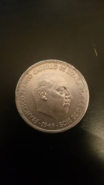 5 pesetas 1949 *49 18280210