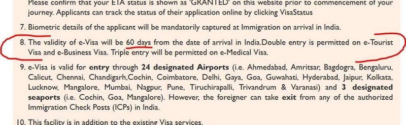 Validité du e-visa (30, 60 ou 180 jours)? 17554510