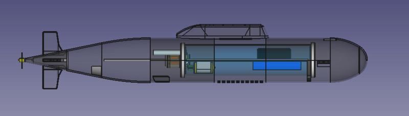 3d printed Alfa Class Russian Submarine Vista_11