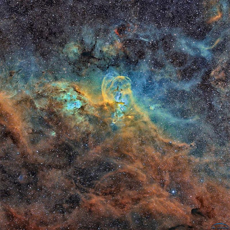 NGC3586 - Nébuleuse de la Statue de la Liberté depuis de Chili Photo611