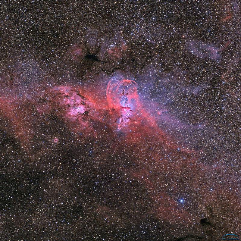 NGC3586 - Nébuleuse de la Statue de la Liberté depuis de Chili Photo612