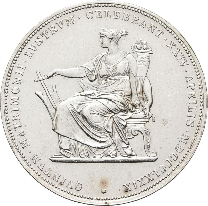 1879 - 2 Gulden de 1879 - Franz Joseph I - Silver Wedding Franz_10