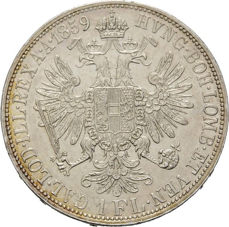 1 Florin Austria Franz Joseph 1859 Yuster10