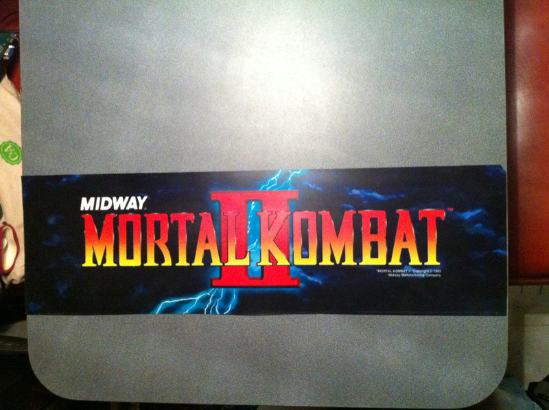 [For Sale] Mortal Kombat II Control Panel & Marquee Original Img_8812