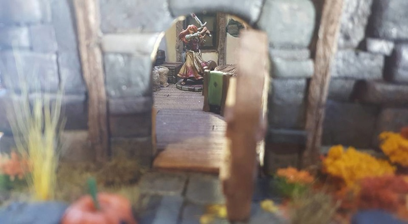 Small Cottage Diorama 17610