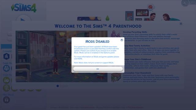The Sims 4 Parenthood Game Pack Crack / v1.30.103.1010 Mods_d13