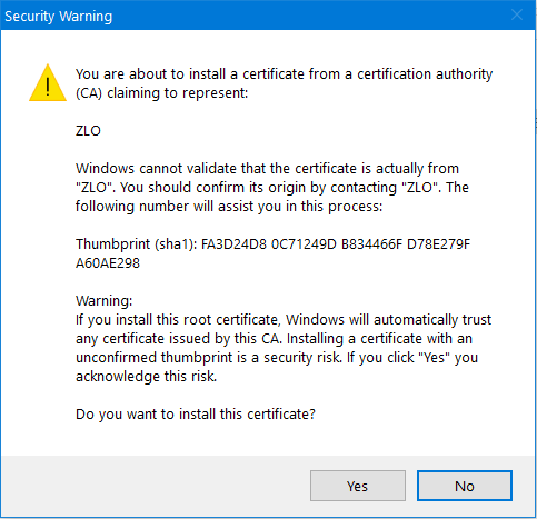 How do I remove the certificate that ZClient installed? Untitl11