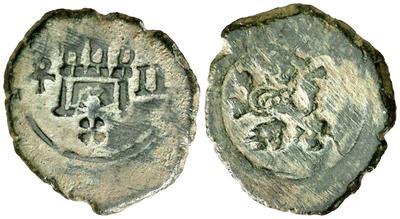 2 Maravedís de Felipe IV, ceca de Toledo. 2_mara10