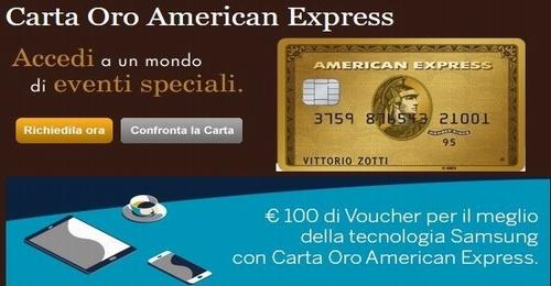 CARTA ORO AMERICAN EXPRESS regala BUONO SAMSUNG € 100 [scaduta il 06/06/2017] Cattur12