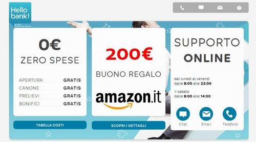 HELLO BANK regala BUONO AMAZON € 200 con codice presentatore III EDIZIONE [promozione scaduta il il 30/04/2019] - Pagina 2 Hellob10