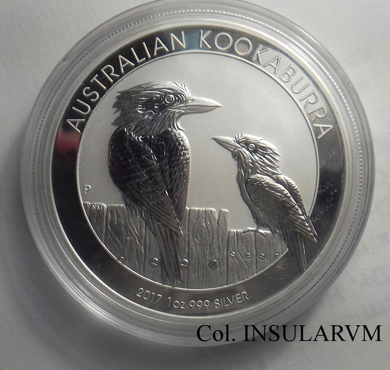 Australia, 1 Dólar (Onza plata) Kookaburra 2017 FDC/BU 1_onza14