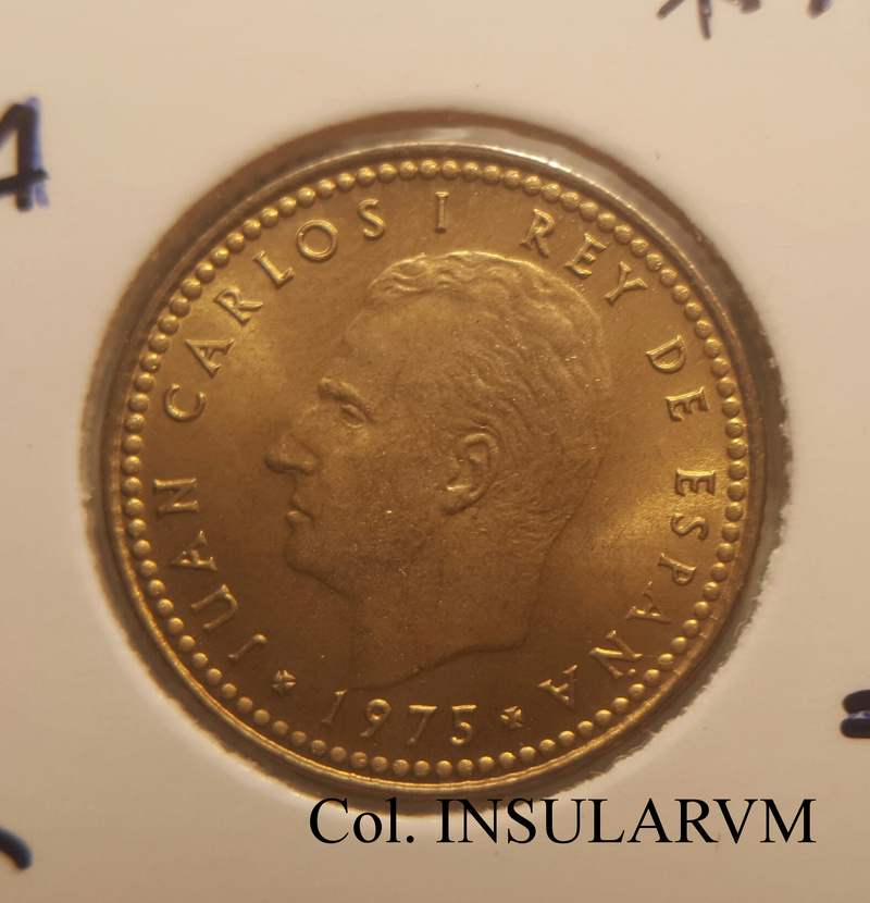 "Juan Carlos I, 1 Peseta 1975 (*19-78) Variante ""chilena"" SC/UNC 1_pese10"