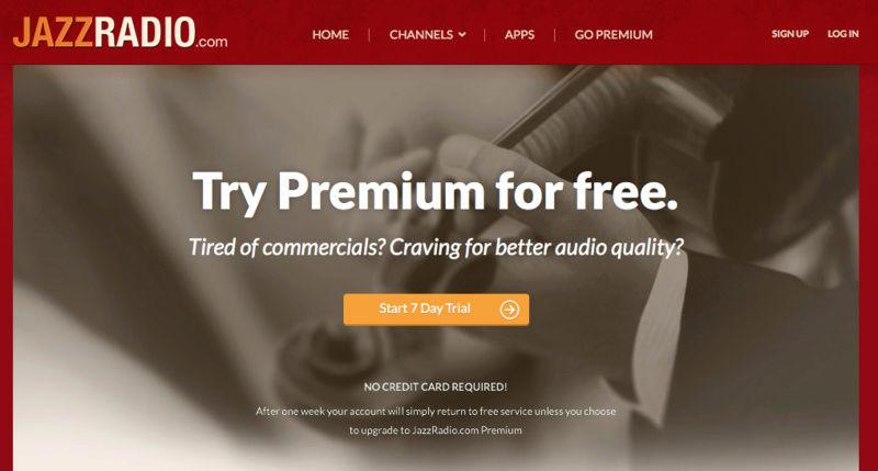 7 dias de JazzRadio.com Premium gratis Captur10