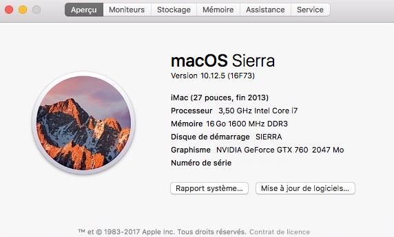 macOS Sierra 10.12.5 Mac-bu10
