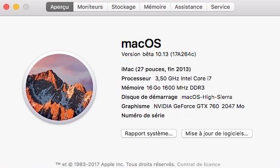 MacOS High Sierra HD Mac-bu12