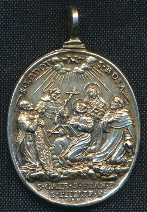 Medalla de Santos canonizados en 1671 / Puerta Santa -1675- Giovanni Hamerani (R.M. SXVII-O436) Giubil10