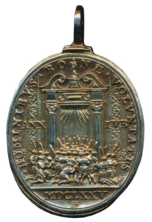 Medalla de Jesucristo / Puerta Santa -1675- Giovanni Hamerani (R.M. SXVII-O435) Giubil13