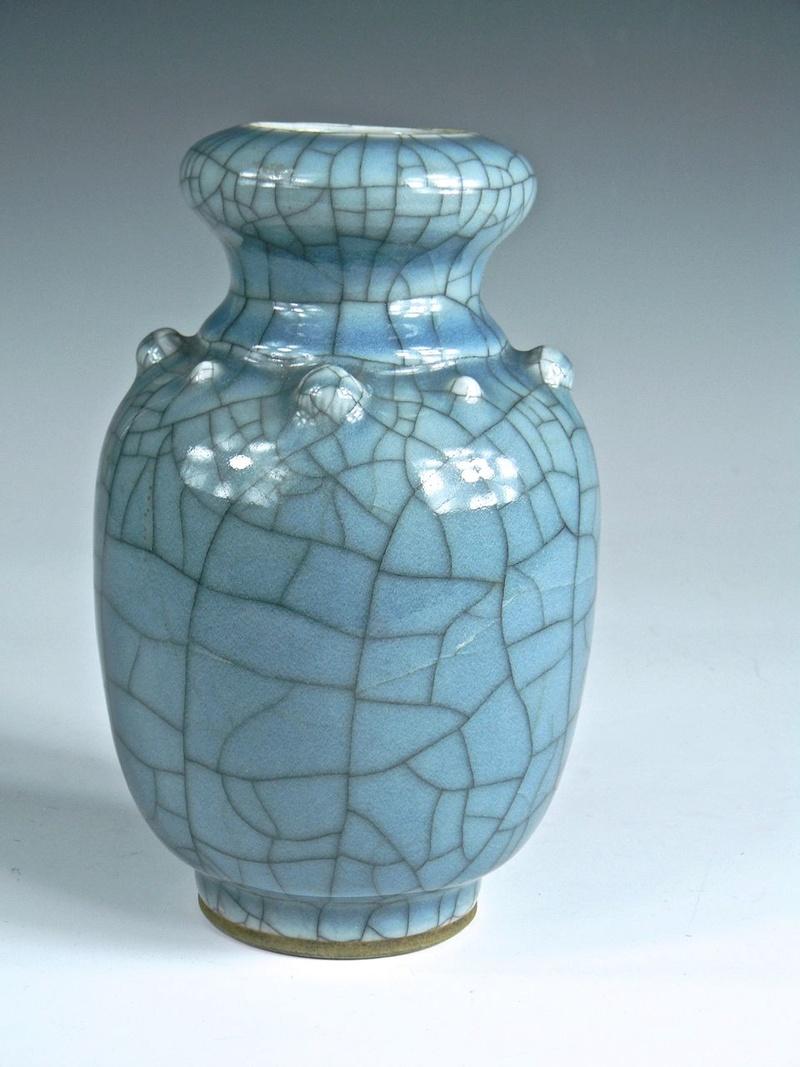 Help Identify a Blue Crackle Glaze Porcelain Vase Asianv14
