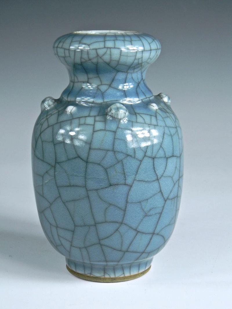 Help Identify a Blue Crackle Glaze Porcelain Vase Asianv15