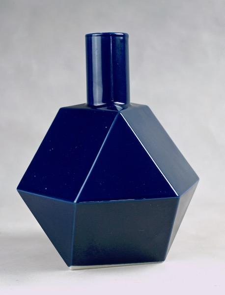 Polygon Ceramic Vase or Bottle - No Mark Cubist11