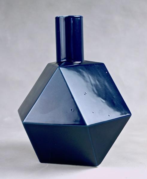 Polygon Ceramic Vase or Bottle - No Mark Cubist12