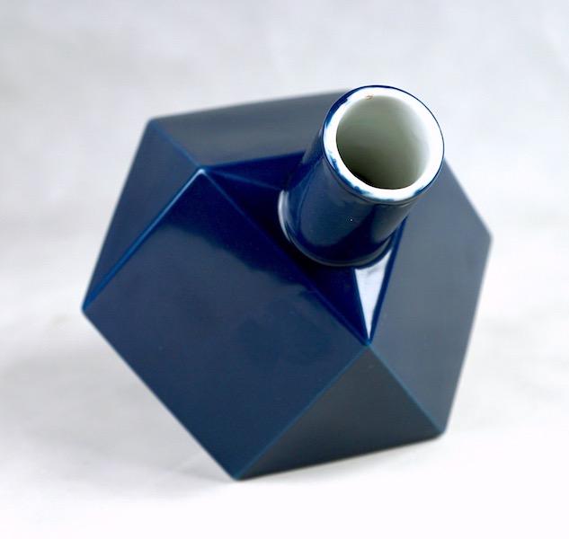 Polygon Ceramic Vase or Bottle - No Mark Cubist13