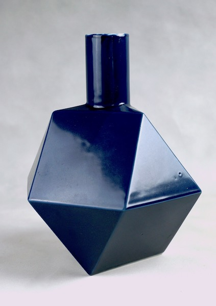 Polygon Ceramic Vase or Bottle - No Mark Cubist14