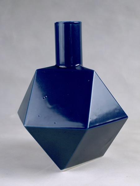 Polygon Ceramic Vase or Bottle - No Mark Cubist16