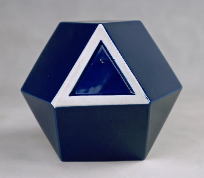 Polygon Ceramic Vase or Bottle - No Mark Cubist17