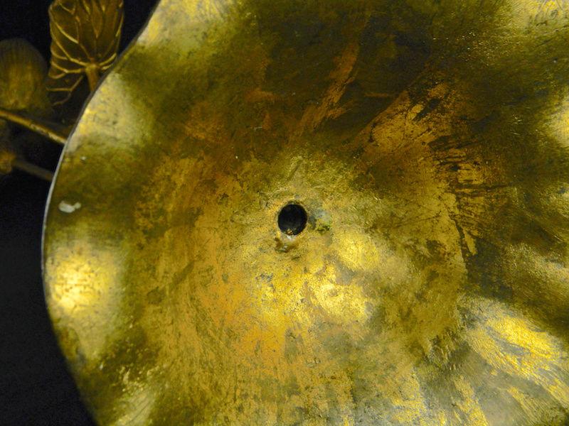 Pair of Large Gilt Metal Lotus Flower Lamp Bases? Lotus_30