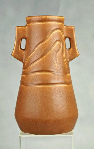 POLLOCK Pottery Handled Vase - Arts & Crafts? Polloc22