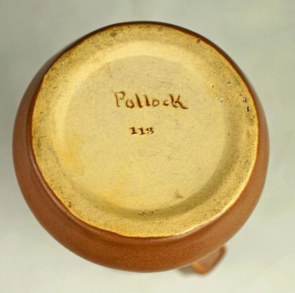 POLLOCK Pottery Handled Vase - Arts & Crafts? Polloc28