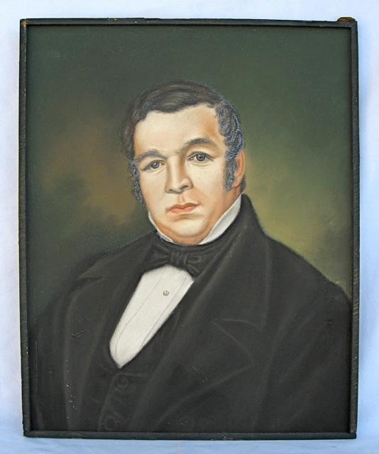 Pair of Antique Pastel Portraits Portra32