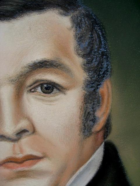 Pair of Antique Pastel Portraits Portra34