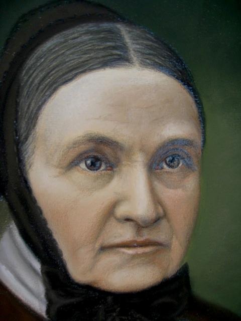 Pair of Antique Pastel Portraits Portra38