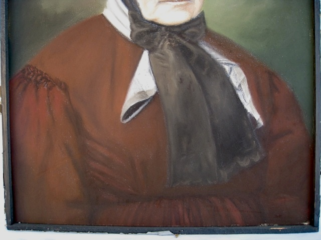 Pair of Antique Pastel Portraits Portra39