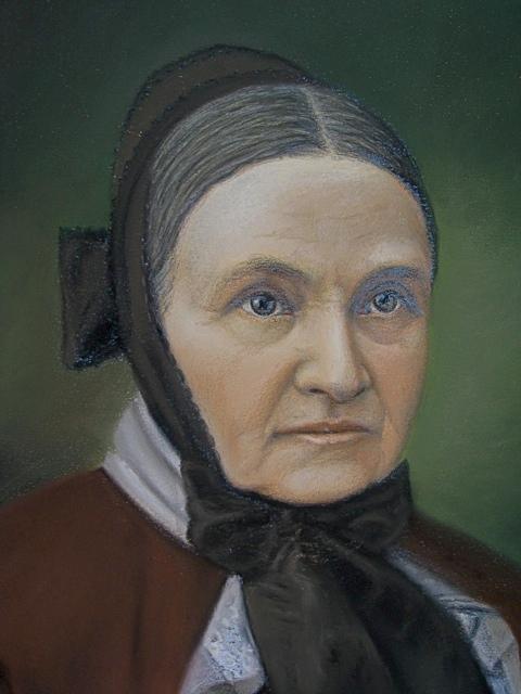Pair of Antique Pastel Portraits Portra40